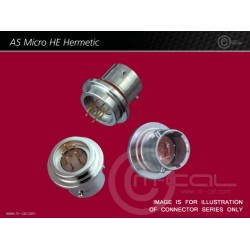 Deutsch Autosport AS Micro HE Hermetic Connector 5 Way Shell Size 06 Pin Layout 06-05 Style 4H Welded Hermetic Receptacle Red N Keyway Pins Standard