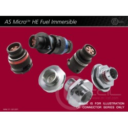 Deutsch Autosport AS MicroLITE HE Fuel Immersible Connector 5 Way Shell Size 06 Pin Layout 06-05 Style 1 Inline Receptacle Red N Keyway Sockets 952K