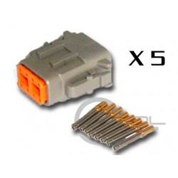 Connector DTM 8 Way Female Kit - Bag 5 Connectors