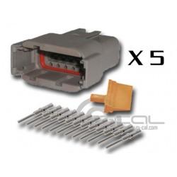 Connector DTM 12 Way Male Kit - Bag 5 Connectors
