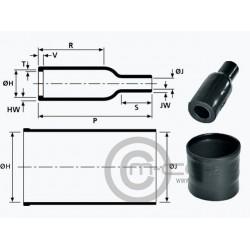 Hellermann Heat Shrink Boot Straight for ASL Shell 06 & ASC