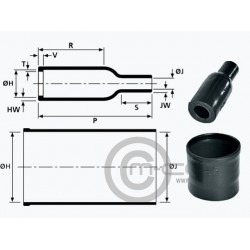Hellermann Heat Shrink Boot Straight for AS MICRO